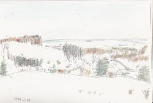 見晴らしのいいピークから石狩平野を望めます。