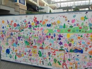 北海道ガーデンショーの告知イベントでのぬりえイベント最終形。